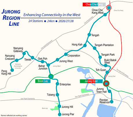 JURONG REGION LINE to Pandan Reservoir Near Twin VEW Condo