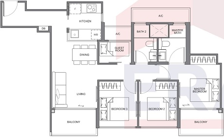 The Navian Freehold Floor Plan