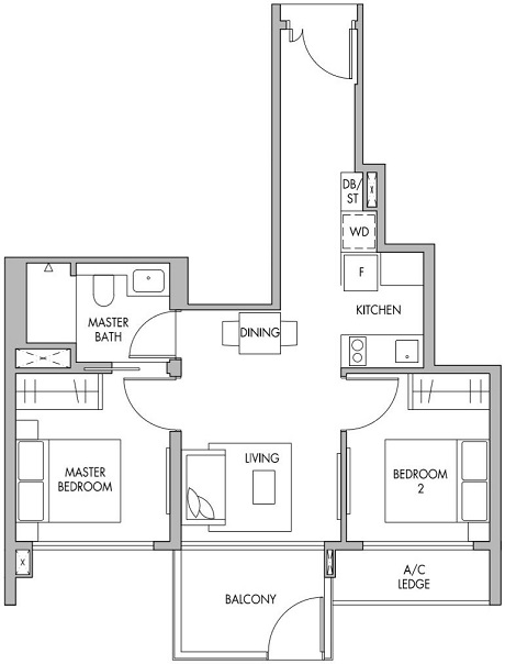 The Tre Ver Floor Plan