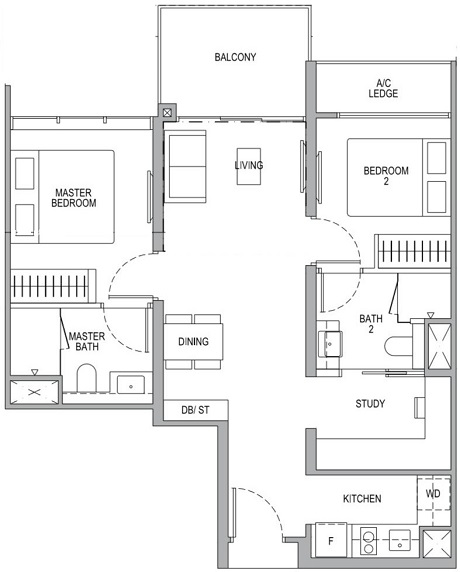 Whistler Grand 2 Bedroom Premium Plus Study