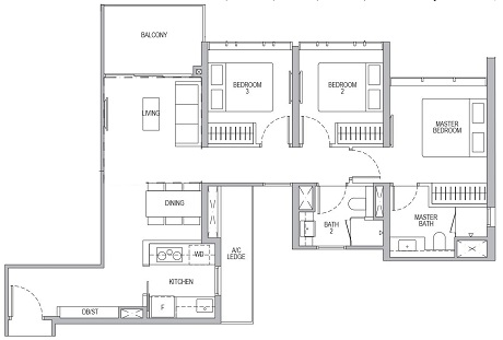 Whistler Grand 3 Bedroom C1