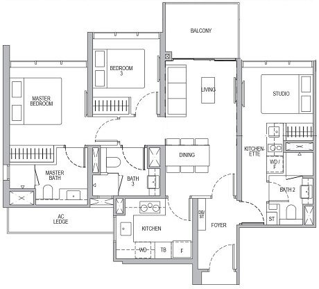 Whistler Grand 3 Bedroom Dual Key C3DK