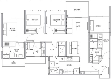 Whistler Grand 4 Bedroom Dual Key D2DK